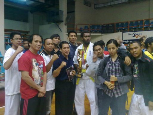 GM Bambit DUlay with Kyokoshin Officials