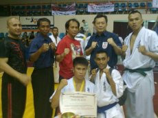 GM Bambit DUlay with Kyokoshin Officials/Players