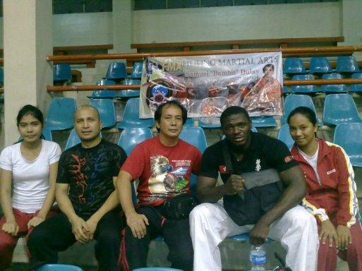 GM Bambit Dulay, Master Jimson Dearos Teaching Senior Karate Members