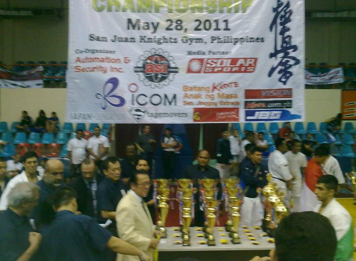 Kyokoshin President with the Medals