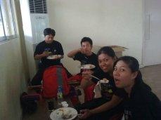 Demo Team Eating